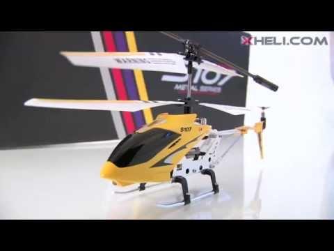 Смотреть видео радиоуправляемый вертолет Syma S107 с гироскопом