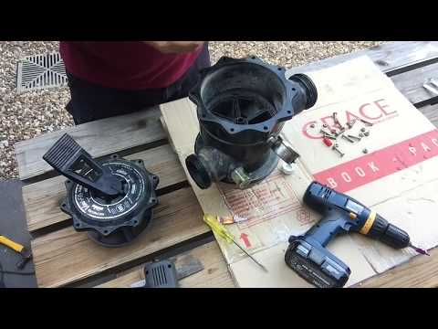 How to service, Lube & repair a Hayward multi port valve from a swimming pool sand filter Vari flo