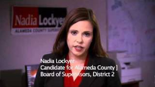 Submitted as part of ABC7 uReport powered by YouTube: http://ureport.abc7news.com Nadia Lockyer for Alameda County Board ...