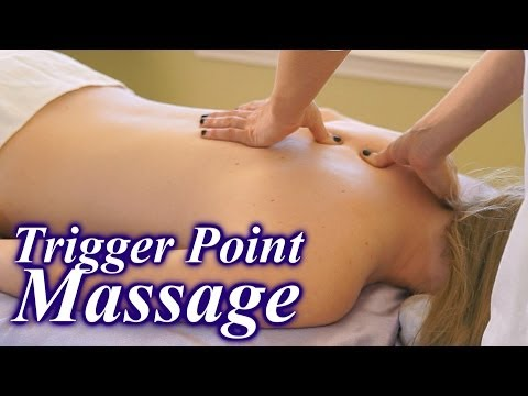 How To Do Trigger Point Massage Therapy Techniques, Back Pain Relief Massage ASMR (видео)