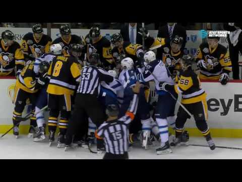 Video: Tempers flare after Malkin's high hit on Wheeler
