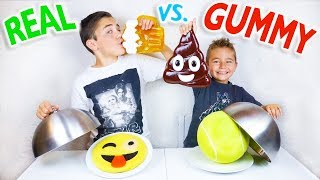 Video REAL VS GUMMY FOOD CHALLENGE - Real stuff or sweets? - Kids Eat Giant Snake - Super Gross Food ! MP3, 3GP, MP4, WEBM, AVI, FLV November 2017