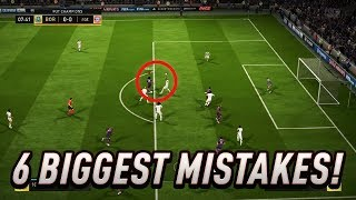 Video THE 6 BIGGEST MISTAKES PEOPLE DO IN THE DEFENCE - FIFA 18 DEFENDING TUTORIAL MP3, 3GP, MP4, WEBM, AVI, FLV Juni 2018