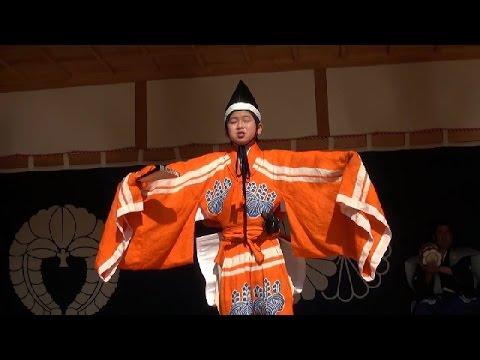幸若舞2015 一番 浜出 大江小学校五年生 大江天満神社