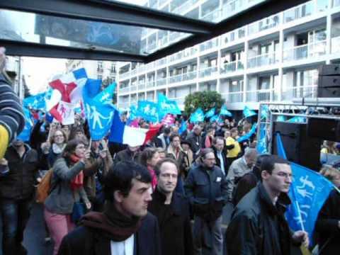la Manif pour tous 7500 manifestants rue d'Assas le 12 avril 2013