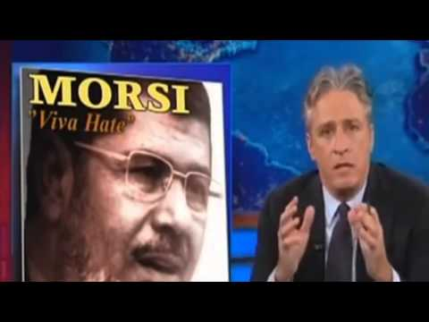 stewart - Jon Stewart Destroys Egyptian president Morsi Defending His Friend Bassem Youssef.