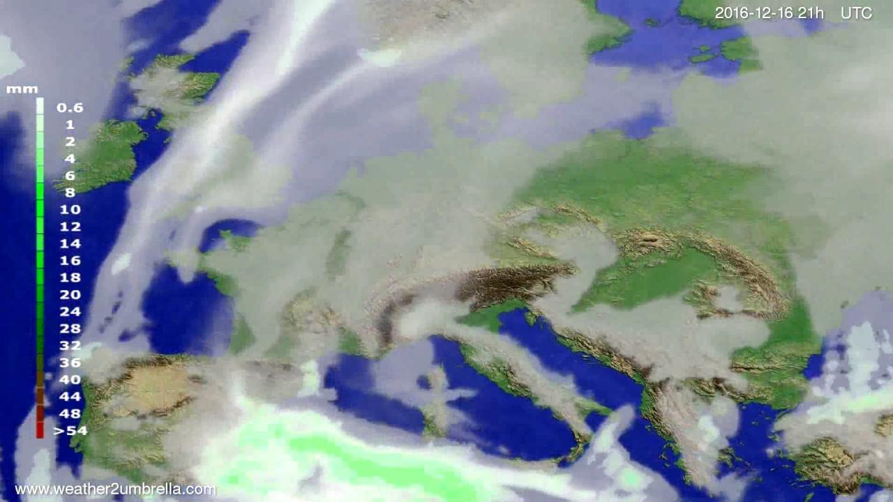 Precipitation forecast Europe 2016-12-13