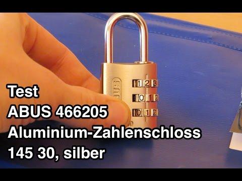 Test ABUS 466205 Aluminium Zahlenschloss 145 30 | Abus Zahlenschloss