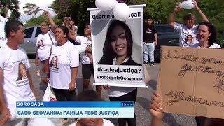 Amigos e parentes de jovem morta pelo ex-namorado protestam e pedem prisão do assassino