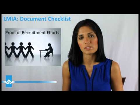 LMIA Document Checklist Video