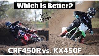9. 2019 Kawasaki KX450F vs 2019 Honda CRF450R Works Edition