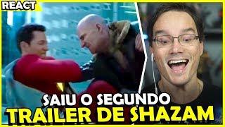 AGORA SIM!!! NOVO TRAILER DE SHAZAM ESTA MUITO IRADO! #React