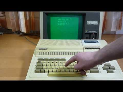 Sharp MZ-800 loading Basic
