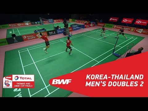 Thomas Cup   MD2   KANG/KIM (KOR) vs KEDREN/PUAVARANUKROH (THA)   BWF 2018
