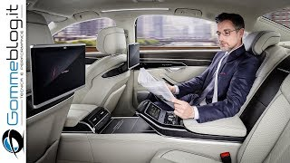 2018 Audi A8 FULL Review - LOOK AWESOME and ...The range of equipment and materials is extensive, with every detail radiating superlative bespoke quality – from the perforation in the seat upholstery to the electrically opened and closed shutters on the air vents.The classiest seat in the new Audi flagship model is in the rear right – the optional relaxation seat in the A8 L that comes with four different adjustment options and a footrest. In this seat, the passenger can warm and massage the soles of their feet on a unit with multiple settings incorporated into the back of the front-passenger seat. The new comfort head restraints complete the experience. The rear passengers can also control an array of functions such as ambient lighting, the new HD Matrix reading lights and seat massage, plus make private phone calls, via a separate operating unit. The rear seat remote, with its OLED display as large as a smartphone, is a removable unit housed in the center armrest.The luxury sedan's interior deliberately adopts a reductive design; the interior architecture is clear and with a strictly horizontal orientation. Audi carries its high quality standards into the digital age with a radically new operating concept. It does away with the familiar rotary pushbutton and touchpad of the predecessor model. The instrument panel is kept largely clear of buttons and switches. At its center is a 10.1-inch touchscreen display which, when off, blends almost invisibly into the high-gloss black surround thanks to its black-panel look.The user interface appears as soon as the car is opened. The driver controls the Infotainment system with fingertip control on the large display. They can use a second touchscreen display on the center tunnel console to access the air conditioning and comfort functions as well as make text inputs. When the driver activates a function in the upper or lower display, they hear and feel a click by way of confirmation. The glass-look operating buttons respond i
