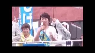参議院福岡選挙区候補 しばた雅子(日本共産党)博多駅前での第一声(6.22)