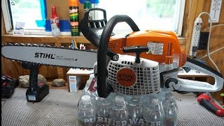 1. Stihl MS291 chainsaw.  Overview, field test, is it worth buying?