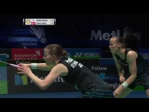 Yonex All England Open 2017 | Badminton SF M4-WD | Jung/Shin vs Juhl/Ped