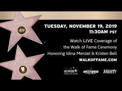 Kristen Bell Walk of Fame Ceremony