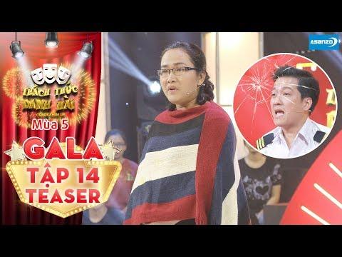 Thách thức danh hài 5|Teaser tập 14 (GALA): Cô giáo Cẩm Hà trở lại, quyết tâm vạch mặt Trường Giang - Thời lượng: 91 giây.
