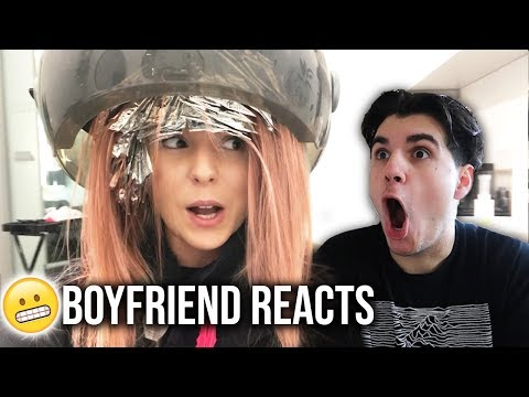 New hairstyle - BOYFRIEND REACTS TO MY NEW HAIR!