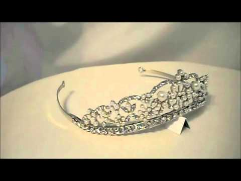 Grace Swarovski Crystal and Pearls Tiara.wmv