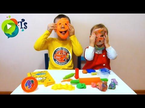Набор для лепки Play Doh - Лепим из пластилина с детьми.