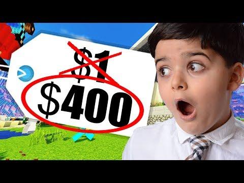 Kid Pays $400 for $1 Minecraft Server Rank!?!