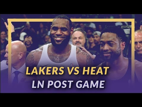 Video: Lakers Discussion: Lakers Beat the Heat, LeBron & D-Wade's Last Matchup, Kuz Scores 33