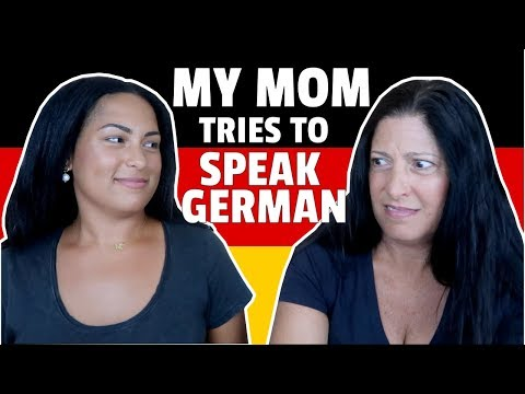 My Mom Tries To Speak German😂🇩🇪