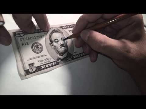 Artist Turns 5 Dollar Bill into 5 Dollar Bill
