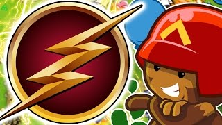 MONKEY FLASH CHALLENGE ! - BLOONS TOWER DEFENSE FIVE