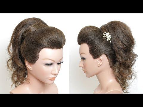 Hairstyles for long hair - New High Prom Ponytail Hairstyle With Puff For Long Medium Hair