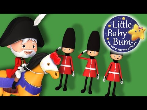 The Grand Old Duke Of York   Nursery Rhymes   by LittleBabyBum!
