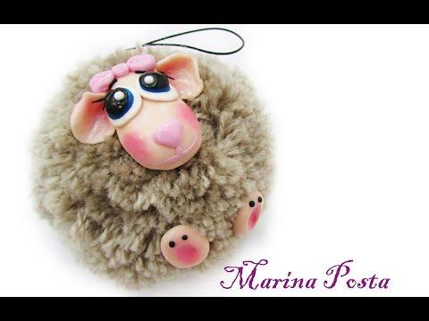 Овца из помпонов своими руками мастер класс - 3dfuse.ru