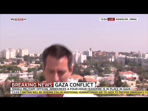 air - Sky News correspondent Jonathan Samuels was reporting live from Ashkelon in Israel when an air raid siren indicated an incoming Hamas rocket attack. SUBSCRIBE to our YouTube channel for more...