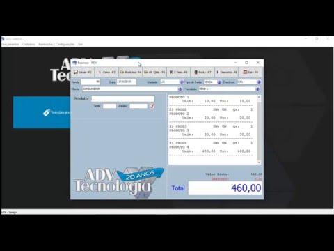 Tela PDV com emissão de NFC-e Integrada
