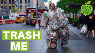 This Man Is Wearing Every Piece of Trash He Creates for an Entire Month