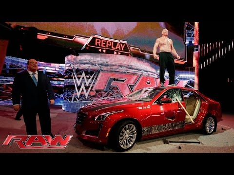 Brock Lesnar destroys J&J Security's prized $55000 Cadillac car
