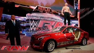 Video Brock Lesnar destroys J&J Security's prized Cadillac: Raw, July 6, 2015 MP3, 3GP, MP4, WEBM, AVI, FLV Juli 2018