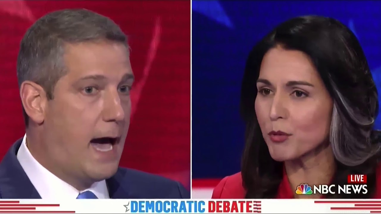 Heated moment with Tulsi Gabbard and Tim Ryan - YouTube