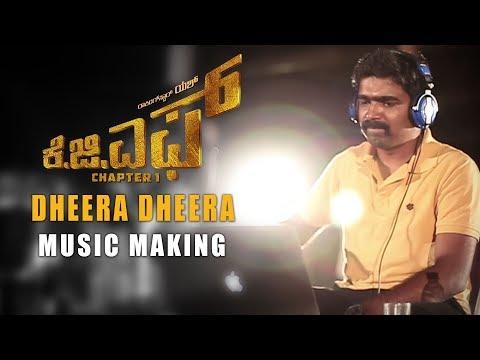 Dheera Dheera Music Making Video - KGF Kannada - Yash | Prashanth Neel | Hombale Films