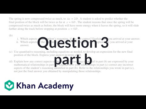 Question 3b 2015 AP Physics 1 Free Response Video Khan