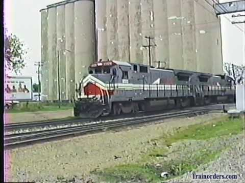 Classic Railroad Series 36 - BN Freight at Springfield, MO May 9, 1990