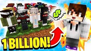 1 BILLION DOLLAR GIVEAWAY! (Minecraft Skyblock)