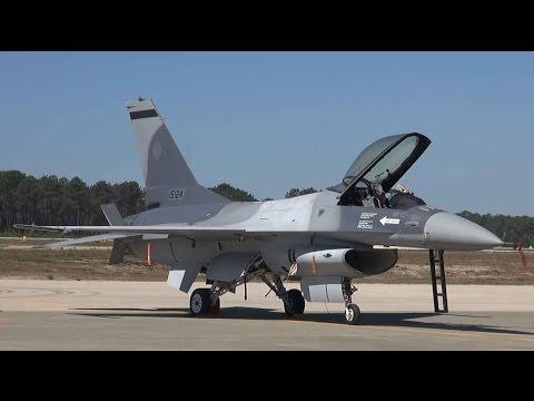 F-16 al Forţelor Aeriene Române prezentat la Baza Aeriană Monte Real (video)