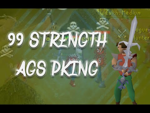 99 Strength Pking With Commentary - OSRS - Tearing Edgeville Apart! (видео)