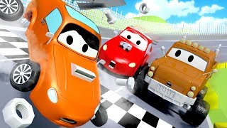 Video The Race Accident - Tom the Tow Truck in Car City 🚗  l Cartoons for Children MP3, 3GP, MP4, WEBM, AVI, FLV Juli 2017