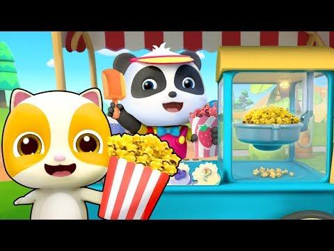 Popcorn Lezat Membuat Bayi Panda Makan Dengan Lahap | Lagu Anak-anak | BabyBus Bahasa Indonesia