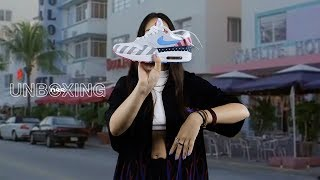 nss unboxing the Air Max 1 Parra w/ Ilaria Bigg